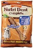Nylabone Nutri Dent Complete Large Filet Mignon Flavored Dog Treat Bone