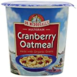 Dr. McDougall's Right Foods Non-Dairy Hot Cereal, Cranberry Oatmeal, 3.1-Ounce Cups (Pack of 6)