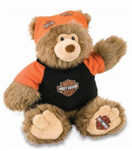 518Rh5fbLHL Cheap Price Harley Davidson® Harley Jr. Stuffed Teddy Bear Animal Toy. 12 High. Dressed in Harley Outfit. 20286
