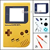 New Full Housing Shell Cover Case Pack with Screwdriver for Nintendo Gameboy Classic/Original GB DMG-01 Repair Part-Yellow