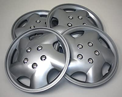 TuningPros WSC-852S14 Hubcaps Wheel Skin Cover 14-Inches Silver Set of 4