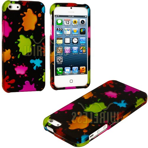 Review:  myLife (TM) Rainbow Paint Splatter Series (2 Piece Snap On) Hardshell Plates Case for the iPhone 5/5S (5G) 5th Generation Touch Phone (Clip Fitted Front and Back Solid Cover Case + Rubberized Tough Armor Skin + Lifetime Warranty + Sealed Inside myLife Authorized Packaging)