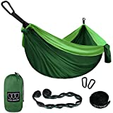 Gold Armour Camping Hammock - XL Double Parachute Hammock (2 Tree Straps 16 LOOPS/10 FT Included) USA Brand Lightweight Nylon Portable Mens Womens Kids, Best Camping Accessories Gear