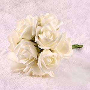 Bridal Bouquet Rose Flower Wedding Bouquets Latex Real Touch Flowers
