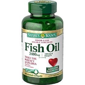 (史低)Nature's Bounty Fish Oil 2400 Mg Double 90粒,自然之宝双倍强效鱼油SS折后$9