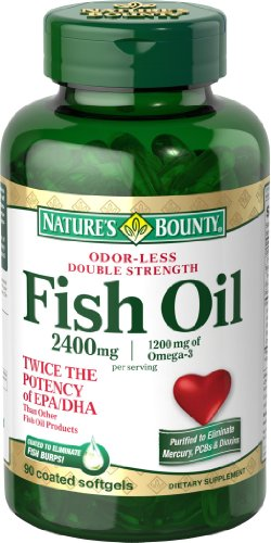 Buy price natures bounty fish oil 2400 mg double for Fish oil for sale