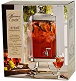 Shannon Crystal Fairmont Cold Beverage Dispenser 2.2 Gallon - Hand Crafted