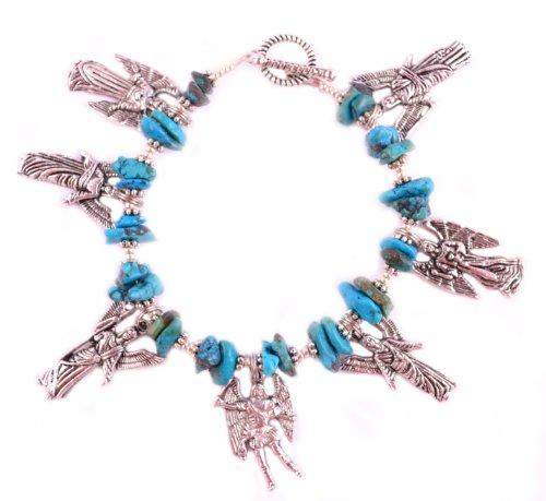 7 Archangels Bracelet Seven Archangels Turquoise Catholic Charm Bracelet Angel Jewelry Turquoise