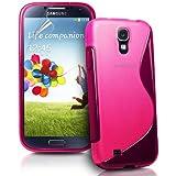 Rhaise Samsung Galaxy S4 Mini / S 4 mini / S IV I9190 / I9192 Silikon h�lle Pink / Rosa S line Case Schutzh�lle inkl. Gratis Displayschutzfolie