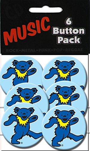 "C&D Visionary Grateful Dead Blue Bear 1.25"" Button (6-Piece) - 1"
