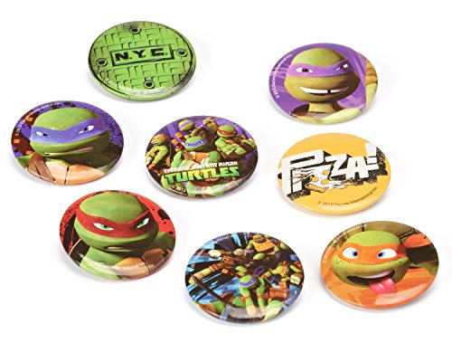 Teenage Mutant Ninja Turtles Buttons, 8 Count, Party Supplies