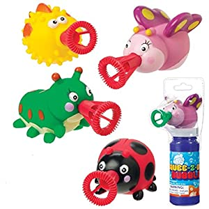 Amazon.com: 4 Mini Squee-Z-Bubs Soap Bubble Toys Lady Bug, Caterpillar