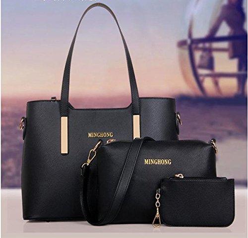Da Wu Jia donna borsetta tre pezzi in diagonale di copertura portatile spalla baodan borsette , nero