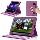 MoKo 360 Degree Rotatory Detachable Cover Case with Stand for Asus eee Transformer Pad Infinity TF700 / TF700T Android Tablet, Purple