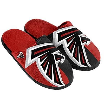 NFL Atlanta Falcons Split Color Slide Slipper, Medium, Black