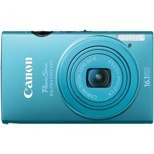 Canon PowerShot ELPH 110 HS 16.1 MP CMOS Digital Camera with 5x Optical Image Stabilized Zoom 24mm Wide-Angle Lens and 1080p Full HD Video Recording (Blue) (Canon Powershot 110 Hs compare prices)