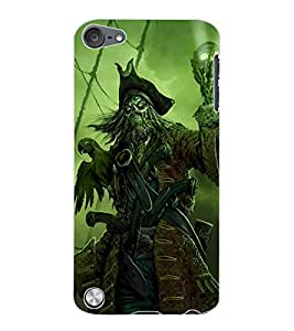 ColourCraft Devil look Design Back Case Cover for APPLE IPOD TOUCH 5