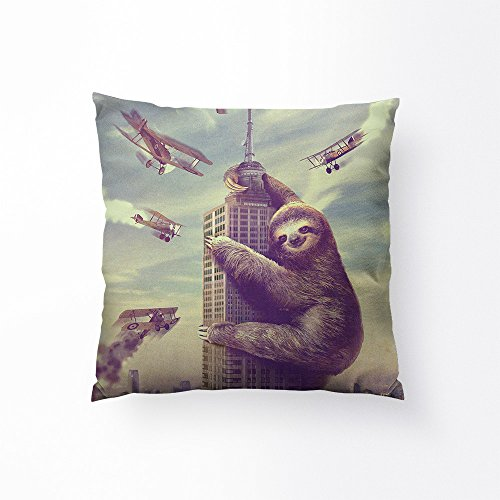 Sharp Shirter Slothzilla Throw Pillow - 18
