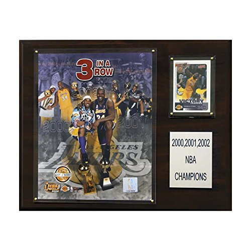 Nba Los Angeles Lakers 2000-2002 Championships Plaque, 12X15-Inch