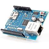 Aukru W5100 Ethernet Schild shield mit Micro-SD Kartensteck für Arduino UNO mega 2560 1280 328