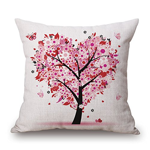 Beautifulseason Throw Cushion Covers Of Plant 18 X 18 Inches / 45 By 45 Cm,best Fit For Deck Chair,dinning Room,monther,sofa,car,couch