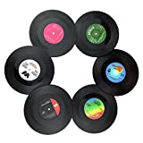 txian 6Retro Vinyl LP Schallplatten Stil Untersetzer Tasse Matte Rutschfeste
