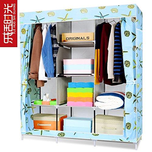 Vêtements pliable armoire placards tige Double Non-tissé en organisateur de stockage UN??2659