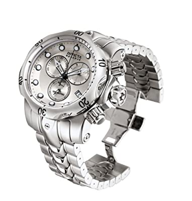 Invicta Men's 5730 Venom Reserve Chronograph Silver Dial Stainless Steel Watch