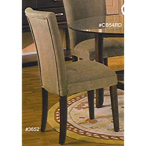4 new Parson Chairs With Cherry Legs & Microfiber Cover