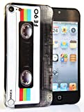 CASEiLIKE® - Retro Vintage Cassette Tape - Snap-on hard case back cover for Apple 5G Touch / iPod Touch 5th Generation - 32GB 64GB - with SCREEN PROTECTOR 1pcs.