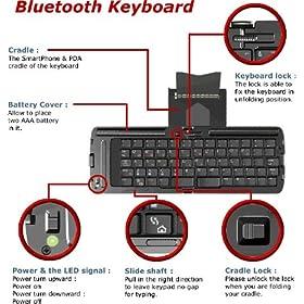 Hp/Compaq iPAQ 2215 Portable / Foldable / Full Size Bluetooth Keyboard