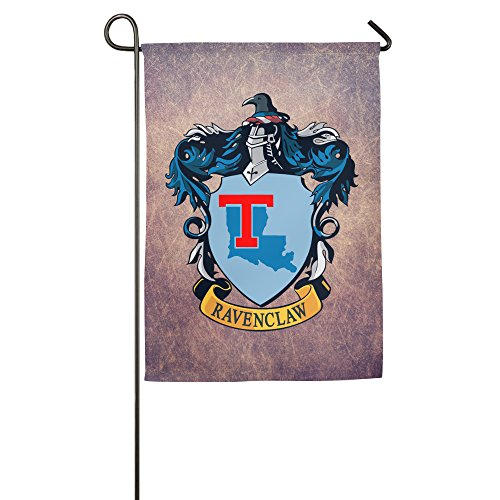 [PKTWO Louisiana Tech University Ravenclaw Crest Outdoor Patio Garden Flag] (Ravenclaw Mascot)