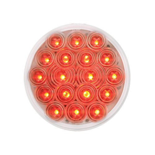"Grand General 76453 Red 4"" Round Fleet 18-Led Stop/Turn/Tail Sealed Light With Clear Lens"