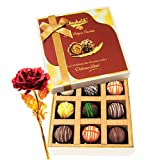 Valentine Chocholik's Luxury Chocolates - Mesmerizing Truffles Collection With 24k Red Gold Rose