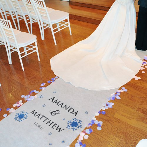 "Winter Wedding Personalized Aisle Runner (Varies) (100'D x .25""H x 36""W)"