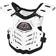Troy Lee Designs Body Guard 2 Adult Roost Guard Off-Road/Dirt Bike Motorcycle Body Armor - White / Small/Medium