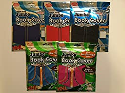 It\'s Academic XXL Jumbo Super Stretchy Book Cover Solid Colors (Pack of 5)