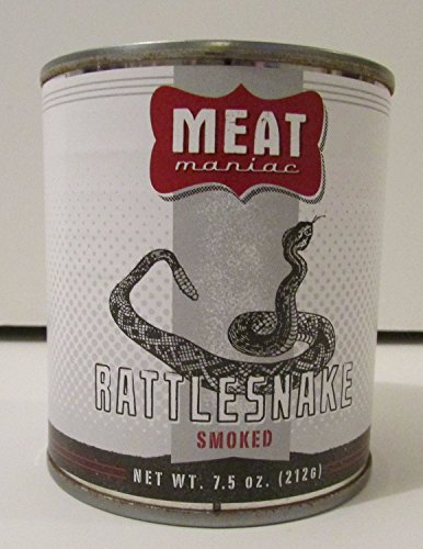 SMOKED RATTLESNAKE- Exotic Gourmet Canned Wild Game Meat (Canned Rattlesnake compare prices)