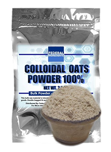 COLLOIDAL OATS POWDER - 2.5 Ounces (70 Grams) - Made in the USA by Federal Ingredients - aka powdered oats oat milk powder whole oat powder oatmeal powder powdered oatmeal colloidal oatmeal powder (Sprouted Grain Bread Cookbook compare prices)