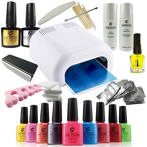 pro-ibn-uv-nail-gel-polish-deluxe-starter-kit-set-including-36w-uv-lamp-a-massive-range-of-accessori
