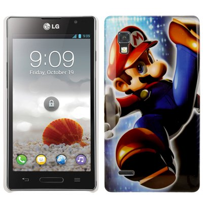 Super Mario Pattern Plastic Custodia Case Cover per LG Optimus P760 / L9