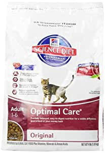Hill's Science Diet Adult Optimal Care Original Dry Cat Food, 4-Pound Bag