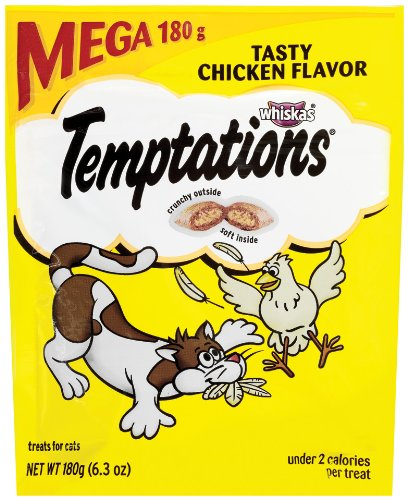Detail image WHISKAS TEMPTATIONS Treats for Cats MEGA BAG Tasty Chicken (Pack of 5)