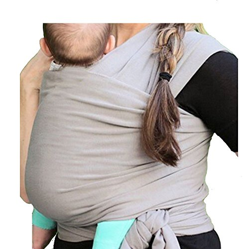 Schukaps Baby - Porta Bebè - Marsupio fascia PortaBebè - Copertina da trasporto per neonato - 0 a 18 mesi - Colore GRIGIO - 95% Di Cotone 5% Elastan - Baby Carrier LightWeight Baby Sling - Baby Wrap Carrier - One Size Fits All - Suitable from 0 to 18 months GREY