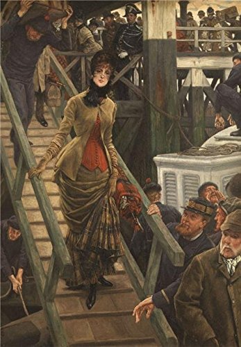 Oil Painting 'James Tissot - Embarkation At Calais, 19th Century' Printing On High Quality Polyster Canvas , 24x35 Inch / 61x88 Cm ,the Best Foyer Decoration And Home Gallery Art And Gifts Is This Reproductions Art Decorative Canvas Prints