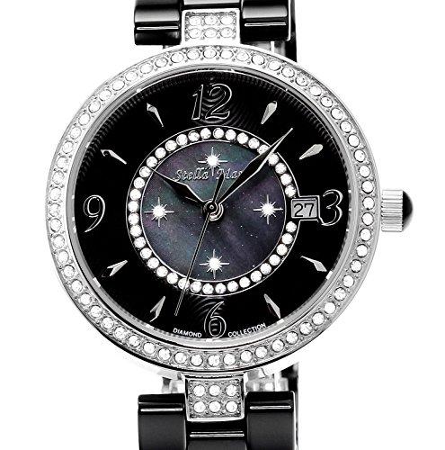 stella maris damen armbanduhr analog quarz premium keramik diamanten stm15sm8 uhren. Black Bedroom Furniture Sets. Home Design Ideas