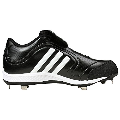 pictures of adidas Men's Excelsior 6 LX Baseball Cleat,Black/White/Silver,12 M US