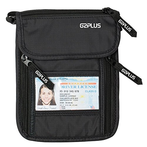 1d6c3df36f Collo della borsa porta passaporto di sicurezza Stashtravel RFID Blocking  denaro cintura nascosta in trova prezzo offerta