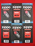 6 Value Pack of Zippo lighter Wicks and Flints Sealed Packs