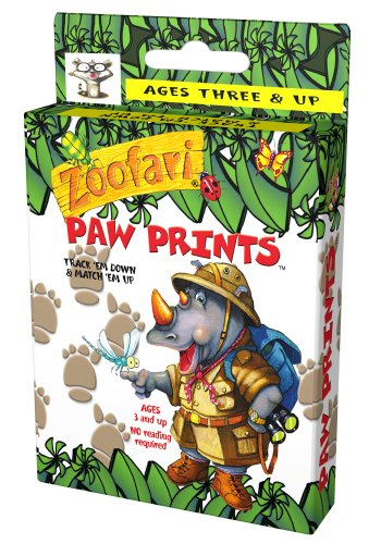 Zoofari Paw Prints Card Game